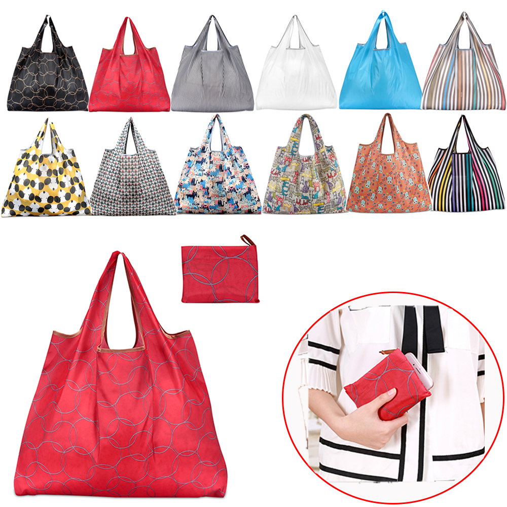 Shopping Bag 2019 New Ladies Foldable Recycling Shopping Bag Eco-reusable Shopping Tote Load 15kg Fruit And Vegetable Groceries
