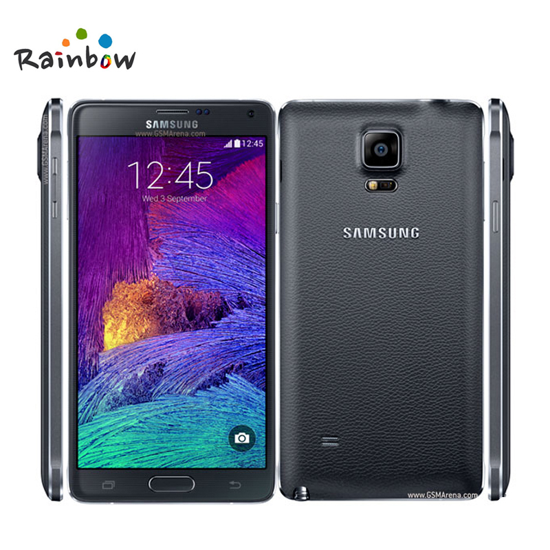 100 original unlocked samsung galaxy note 4 cell phone. Black Bedroom Furniture Sets. Home Design Ideas