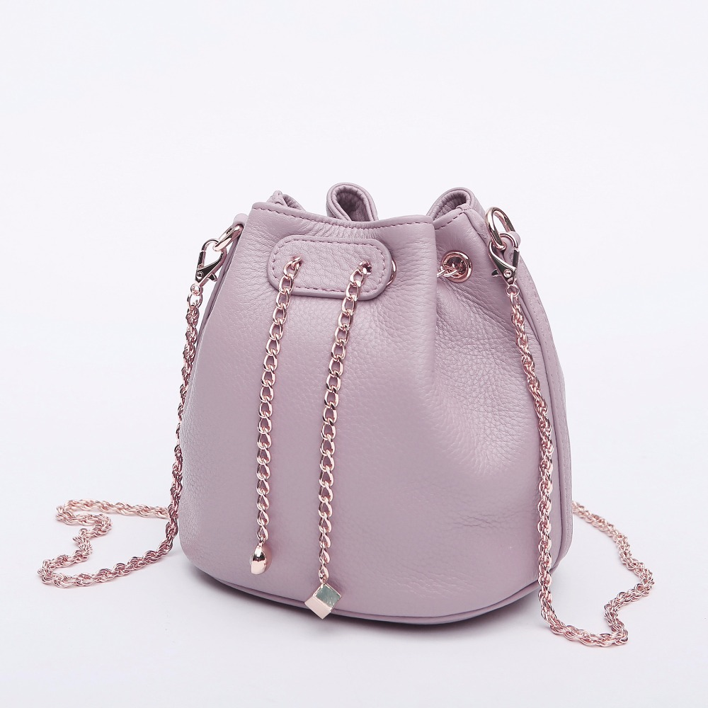 2018 Sweet Style Fashion Design Women Bag Genuine Leather Lady Small Crossbody Bag Lady Chain Leather