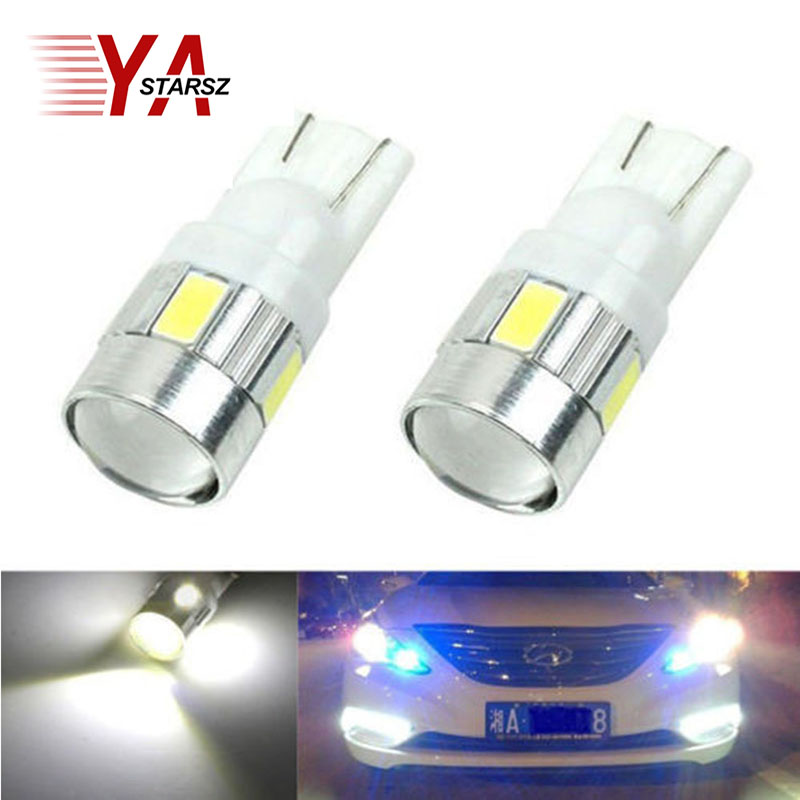1X car styling Car Auto LED T10 194 W5W Canbus 10 smd 5630 LED Light Bulb No error led light parking T10 LED Car Side Light car led 1pcs t10 194 w5w dc 12v canbus 6smd 5050 silicone shell led lights bulb no error led parking fog light auto car styling