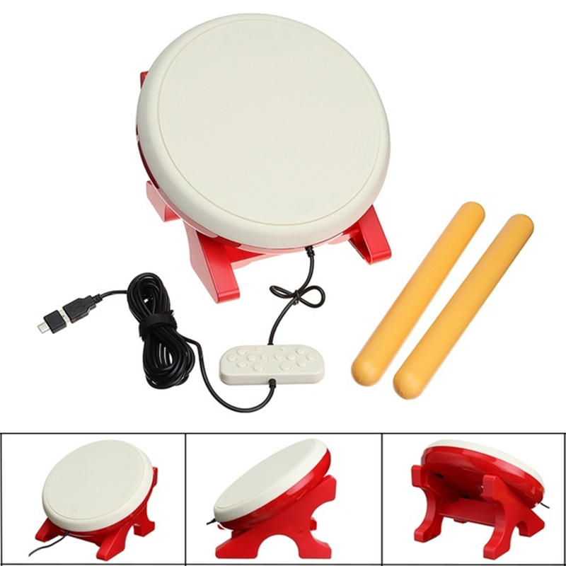 TAIKO DRUM Portable Drum Sticks Set For N-Switch Wii Remote Controller Console Video Game Accessories