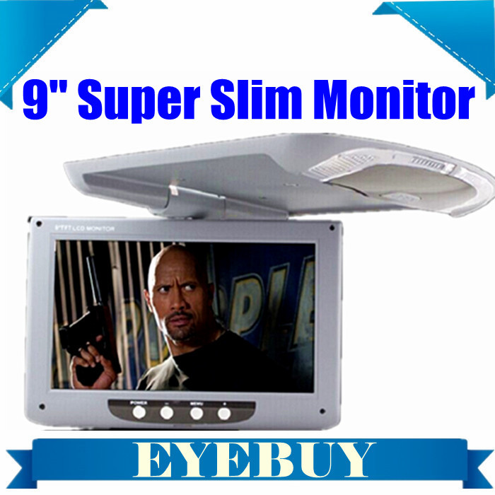 9 Super Slim Overhead drop car automotivo HD Flip Down Monitor LCD Car Ceiling wide screen
