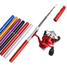 2-piece set Mini pocket Fishing Rod and Reel Combos Travel Fishing Rod Set  Fishing Rod Pole + Spinning Reel Aluminum Alloy new mini portable pocket fish pen aluminum alloy rod of fishing pole reel combos lightweight ice rods reel fishing kits