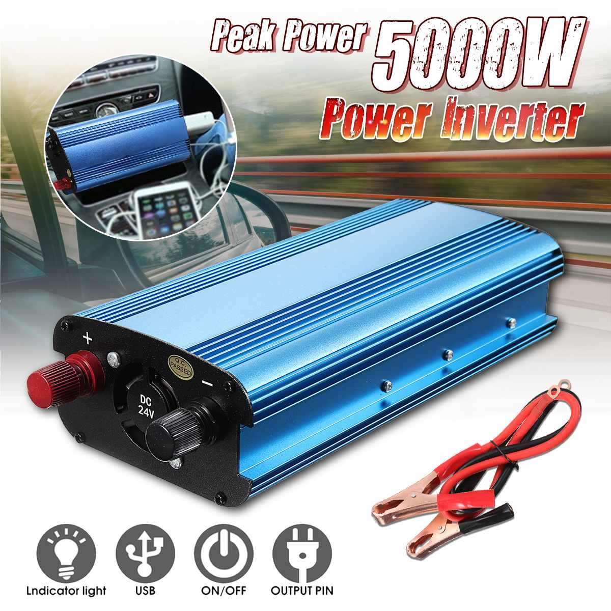 Solar Power Inverter 5000W P Eak DC 12/24/48 V/60 V untuk 220V LCD Display Mobil Solar Inverter Modified Sine Wave Power Converter