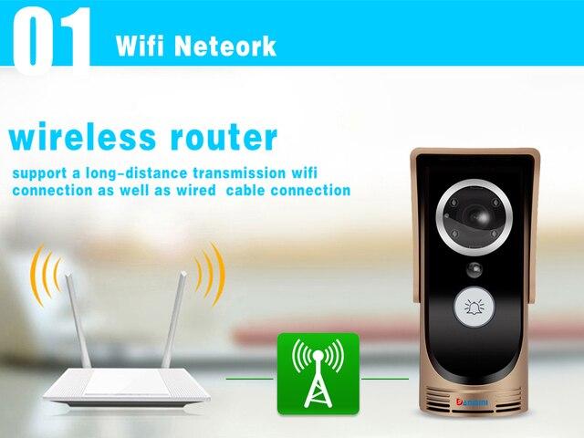 Phone Control Wireless Wifi Video Door Phone Intercom 720P HD Outdoor Camera IR Doorphone Doorbell System For Andriod IOS