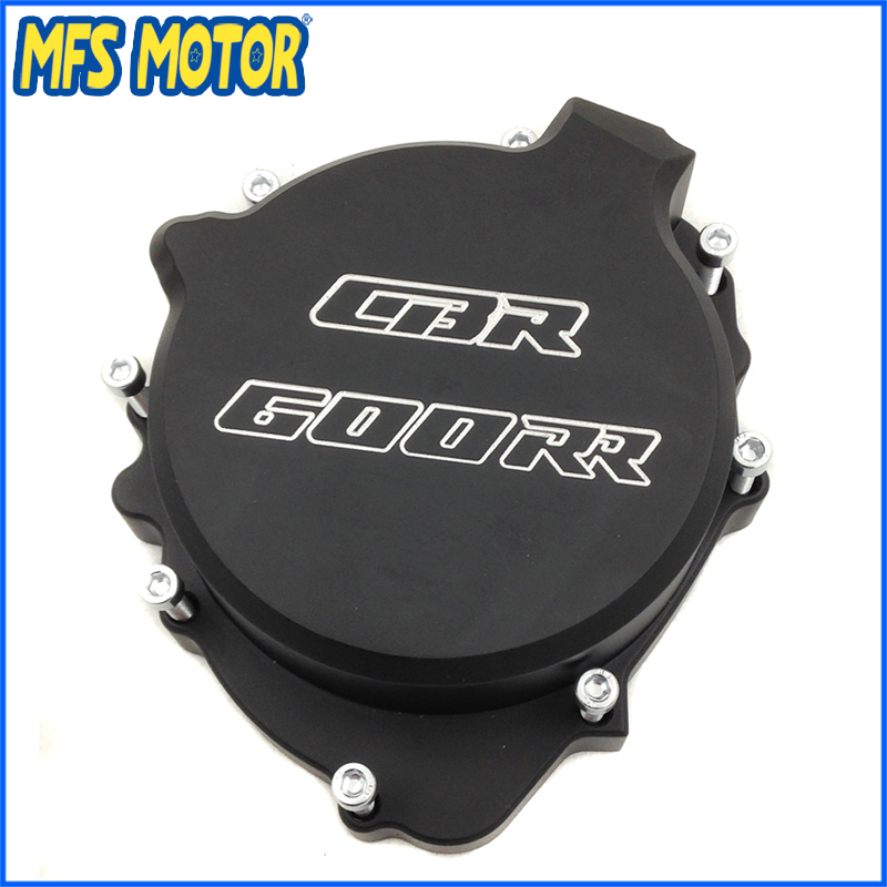 Freeshipping Motorcycle left side Engine Stator cover For Honda CBR600RR 2003 2004 2005 2006 BLACK arashi radiator grille protective cover grill guard protector for honda cbr600rr cbr 600 rr 2003 2004 2005 2006