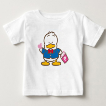 2018 digital print childrens T-shirt cute little ducks boys and Girls Summer Short Sleeved costumes pekkle Cartoon children MJ