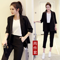 Spring slim work wear women trouser jacket OL fashion formal blazer with pant set plus size office business suit pants female