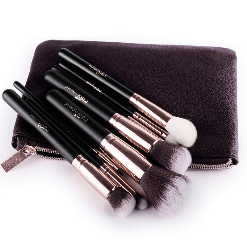 MSQ 8PCS Makeup Brushes Comestic Powder Foundation Brush Eyeshadow Eyeliner Lip Beauty Make up Brush Tools Eye Brush Set 24pcs makeup brushes set cosmetic make up tools set fan foundation powder brush eyeliner brushes leather case with pink puff