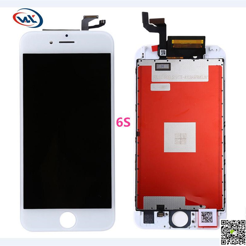 ФОТО wxklcd 10pcs AAA quality 6s screen touch screen digitizer assembly no dead pixel for apple iphone 6s display lcd oem