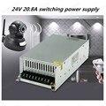24V 20.8A 500W Драйвер импульсного источника питания переключение для светодиодных лент светового дисплея 110В/220В Бесплатная доставка