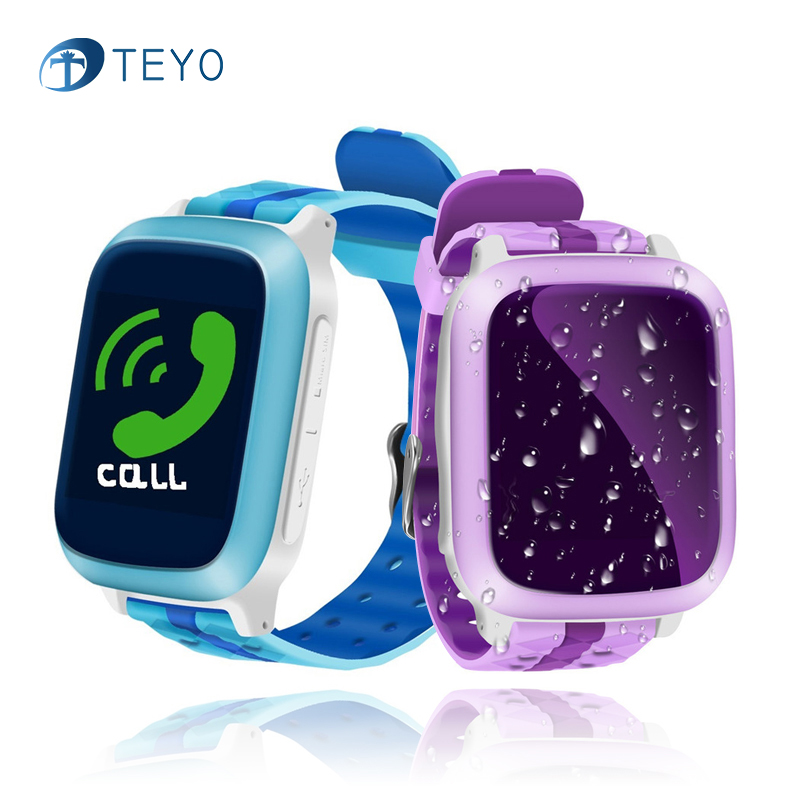 Teyo Smart Watch DS18 Safety Anti Lost Tracking GPS Emergency SOS Dial Call Waterproof Baby Watch for Children With Android IOS children s smart watch with gps camera pedometer sos emergency wristwatch sim card smartwatch for ios android support english e