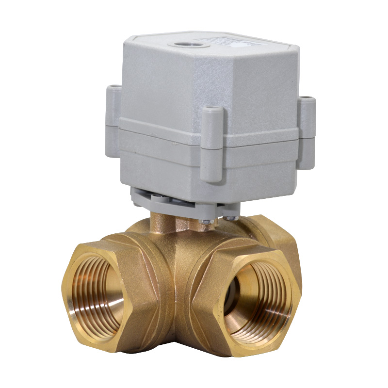 HSH-Flo Brass 3 Way 12VDC 1//2 DN15 CR5-01 5 Wires On//Off Control Electrical Motorized Ball Valve