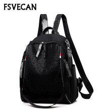 Fashion leather Women Backpack 2019 Sequins mochila feminina female Black Bag Pack Women's Backpacks For School teenagers Girls luxury women backpacks famous brand genuine real leather black backpacks for teenagers girls school bag vintage mochila feminina