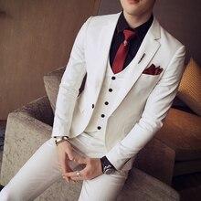 Новая мода,, бренд, мужские повседневные костюмы высокого качества, удобные в уходе, мужские тонкие корейские стильные блейзеры, жилеты и брюки