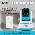 720 p hd câmera ip wifi + pir motion sensor de segurança câmera de vigilância wi-fi p2p ir-cut ip sem fio poe câmera ptz bw013b