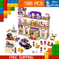 1585pcs Bela 10547 Friends Heartlake Grand Hotel Model Building Bricks Blocks Emma Stephanie Toys girls Compatible With Lego