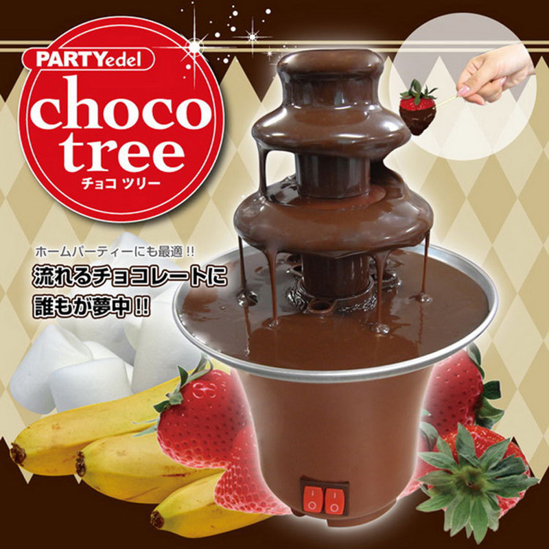 220V 3 Layers Mini Chocolate Fountains Mini Chocolate Waterfall Maker Machine With EU Plug For Home Outdoor Party fast shipping food machine 6 layers chocolate fountains commercial chocolate waterfall machine with full stainless steel