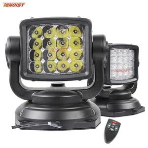 Image 1 - Le plus récent un pièces 80W 360 degrés Rotable LED recherche lumière de chasse avec Base magnétique pour Seaboat SUV voiture 12V 24V