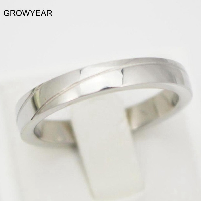 Free Shipping Classic Simple Wedding Bands Small Casual Silver Engagement Rin