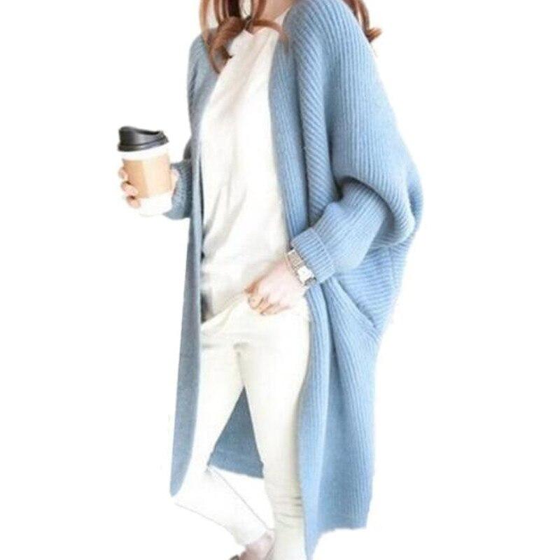 2017 Lange Strickjacken Herbst Winter Gestrickte Pullover Aushöhlen Strickwaren Langarm Damen Vintage Hohe Qualität Pullover Zy3739 Spezieller Sommer Sale