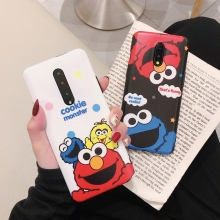 Cute Cookie Monsters Cases for OnePlus 7 / 7 Pro Matte Soft Silicone Case for OnePlus 7 Pro 5G Funny Red Elmo IMD Phone Cover