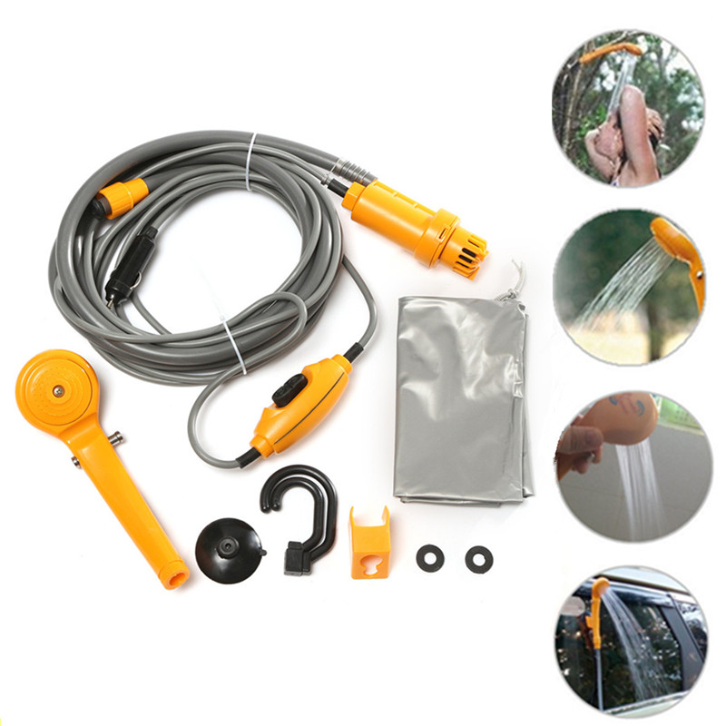 New Portable Car Washer 12V Camping Shower DC Car Shower Washer Set Electric Pump For Outdoor Camping Travel Pet Dog Man Woman