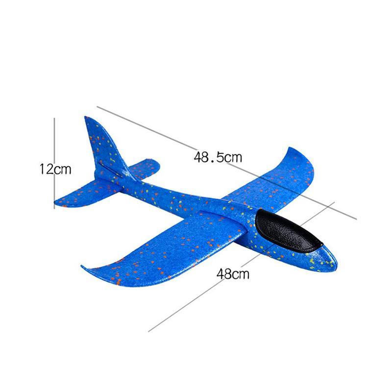 48CM main jeter mousse avion jouets en plein air lancement planeur avion enfants cadeau Jouet gratuit mouche avion jouets Puzzle modèle Jouet 4