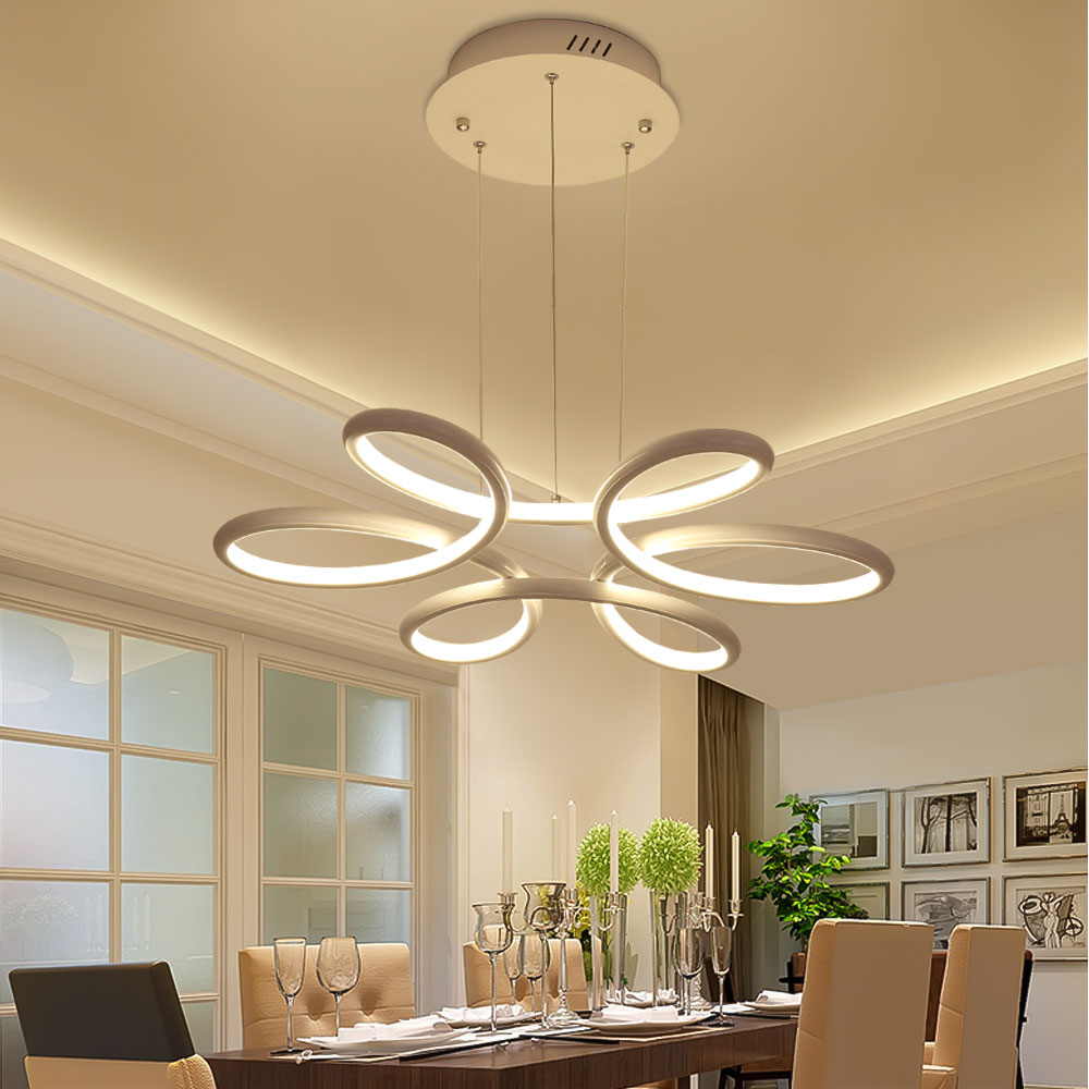 Aliexpress Chandelier Lighting Re Led Lamp Modern Hanging Light Fixture Aluminium Ceiling Plate Remote Control Chandeliers Living Room From