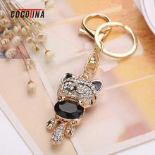 COCOTINA Cute Lucky Cat Keychain Fashionable Inlaid Drill Key Chain Kitten Keychain Mobile Phone/bag/car Pendant D02509