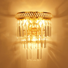 European creative E14 led crystal wall lamp luminaria home lighting living room Bedside wall light for bathroom Mirror headlight цена