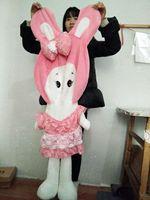 Wholesale Large Size Toys 80 150cm Cute Rabbit Doll Skin Plush Toys Rabbit Toys Skin Cushion