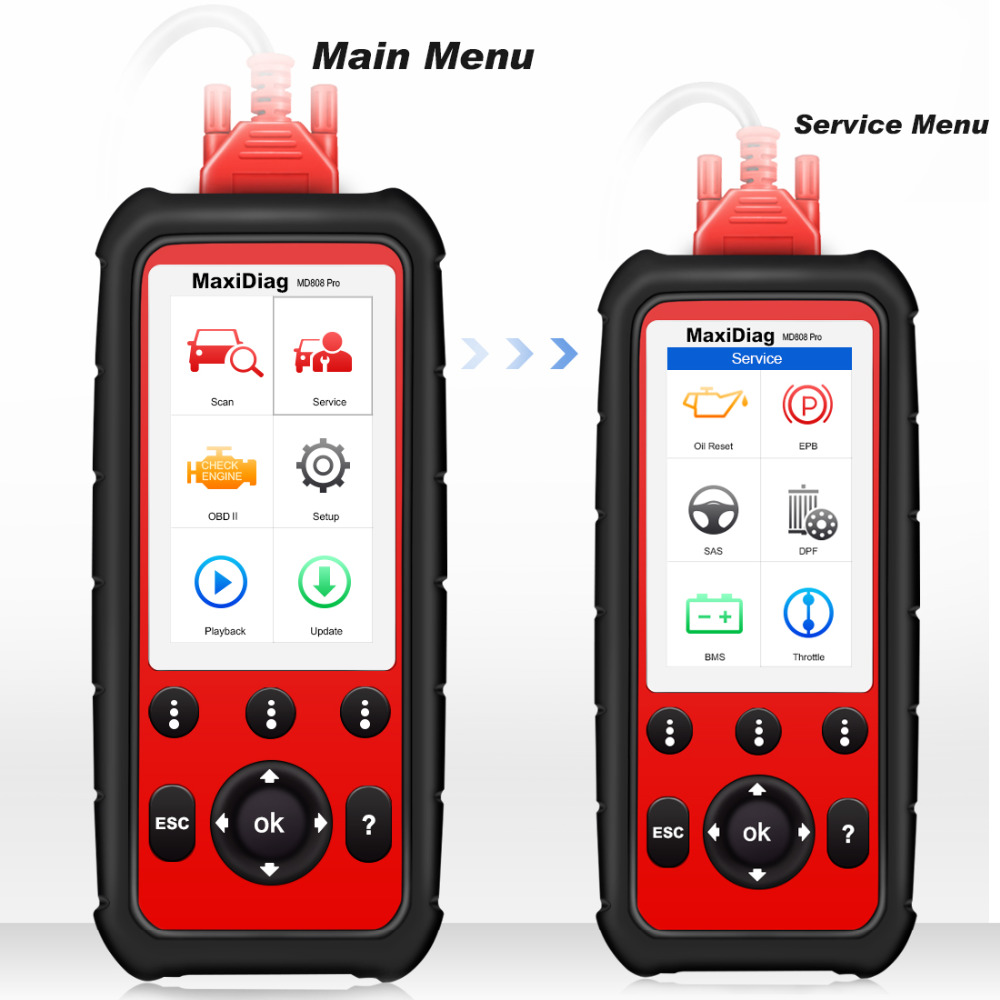 Image 3 - Autel MD808 PRO OBD2 Scanner Car Diagnostic Tool For Engine,Transmission,SRS And ABS Auto Scanner Automotivo Diagnostic Tool