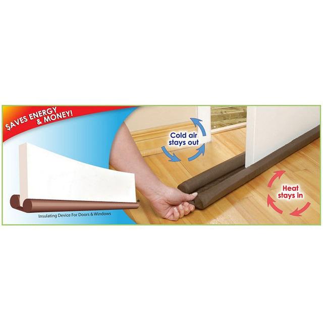 Home Wind Dust Door Gap Blocker Door Stop Double Sided 80cm Twin Draft Resisted Sash Stopper Door Windows Protector Dust Proof