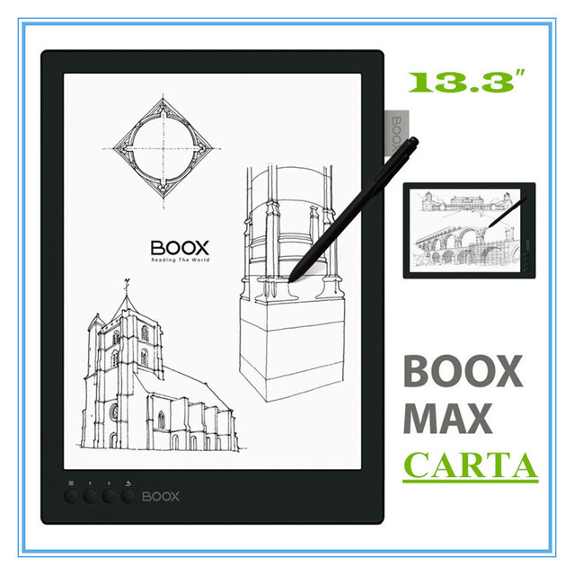 "New BOOX MAX carta ereader 13.3"" Flexible Screen 2200*1650 16GB 4100mAh Bluetooth WiFi ebook gift cover free shipping"