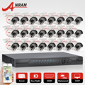 24CH 1080N HDMI DVR Set Security Camera System 24 pcs AHD 720P 1800TVL Outdoor IR Night Vision Home Surveillance Camera Kit
