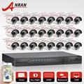Conjunto 1080N 24CH HDMI DVR Sistema de Câmera de Segurança 24 pcs 1800TVL AHD 720 P Visão Nocturna do IR Ao Ar Livre Câmera de Vigilância Em Casa Kit