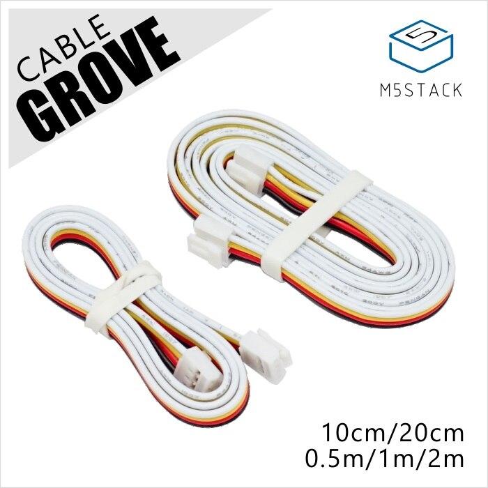 M5Stack Ufficiale Universale 4Pin Fibbia Grove Cavo 1 m/2 m/50 centimetri/20 centimetri/10 cmM5Stack Ufficiale Universale 4Pin Fibbia Grove Cavo 1 m/2 m/50 centimetri/20 centimetri/10 cm