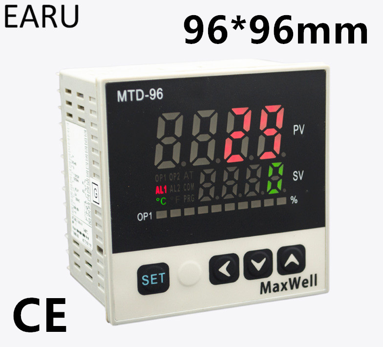 96*96mm Digital Temperature Controller Control AC85-265V Power Thermocouple Universial K J PT100 Input SSR+Relay / 4-20mA Output