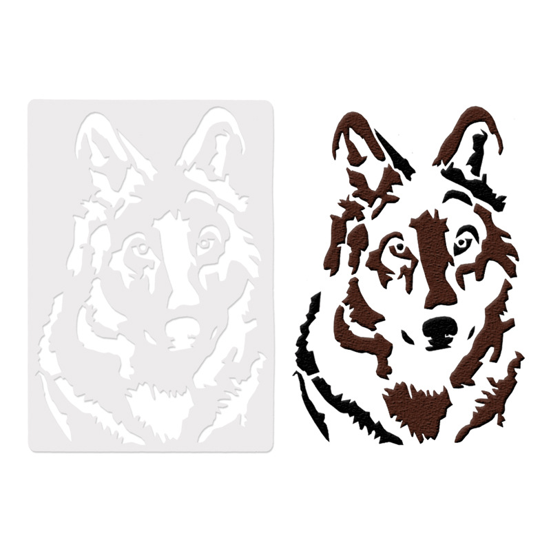 26*18cm DIY Craft Wolf Pattern Stencils Template For Wall Painting DIY Fabric Painting Photo Album Decorative