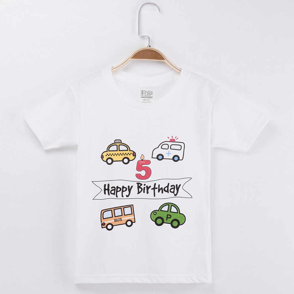 2018 Cars T Shirt For Children 100% Cotton Cartoon Children T Shirts Birthday Clothes For Boys And Girls Tops Baby Clothing Set
