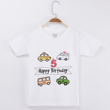 2019 Cars T Shirt For Children 100% Cotton Cartoon Children T Shirts Birthday Clothes For Boys And Girls Tops Baby Clothing Set t shirts frutto rosso for girls and boys sm117k021 top kids t shirt baby clothing tops children clothes