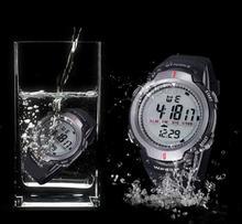 Marca Militar Reloj de Pulsera Deportivo de Los Hombres LLEVÓ el Reloj Electrónico de Moda Negro Relojes Digitales Para Hombre Al Aire Libre 30 M Reloj Resistente Al Agua