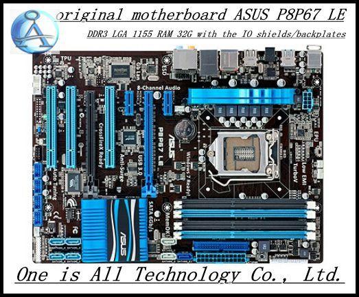 original motherboard for ASUS P8P67 LE DDR3 LGA 1155 boards 32GB  USB2,0 USB3.0 SATA3.0 Desktop motherboard free shipping free shipping original motherboard for asus p8p67 le ddr3 lga 1155 ram 32g motherboards sata3 0 usb3 0 mainboard