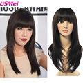 2016 new arrival hot eye-catching women wig silk straight hair synthetic heat resistant none lace hair wigs beauty good quality