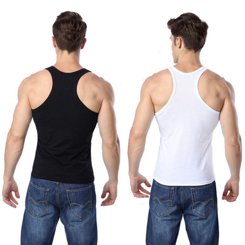 Men   Tank     Tops   Sexy solid color Sleeveless Tees Shirts Undershirts Bodybuilding Singlets Stringer Muscle Vest Tight underwear
