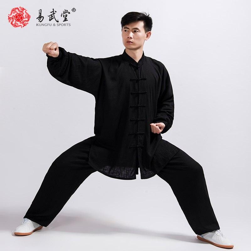 Костюм Тай-Чи, военный костюм кунг-фу, куртка для боевых искусств, одежда Ву-шу, 45% хлопка, 55% льна, индивидуальная форма для мужчин и женщин