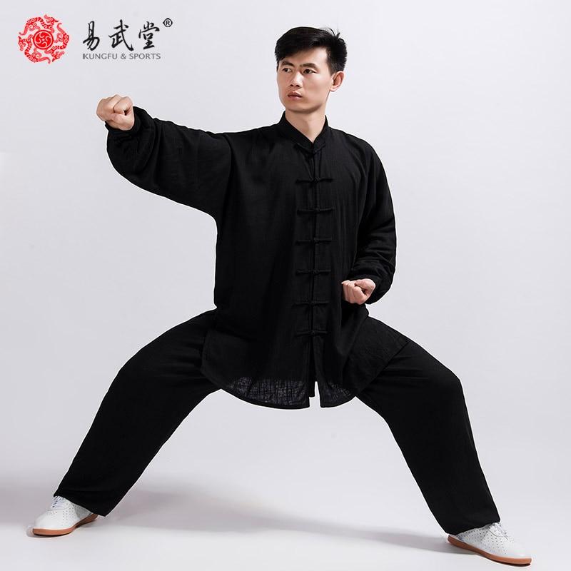 Tai Chi Uniform Kung Fu Suit Martial Arts Jacket Wu Shu Clothing 45%cotton 55%linen Custom Uniforms For Men And Women