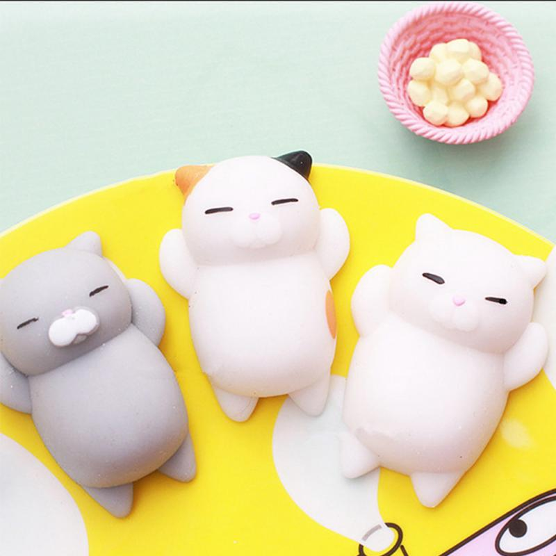 Squishy 3D Sleeping Stickers Sleepy Cat Bear Cellphone Decoration Lovely Toys