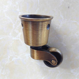 Free shipping round copper Cup casters, caster, shelf casters, caster / wheel chair sofa furniture